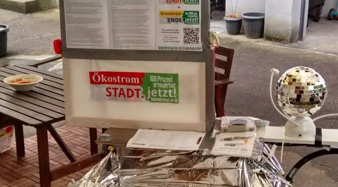 Letzte Unterschriftensammlung: Blitzlichter aus Bielefeld