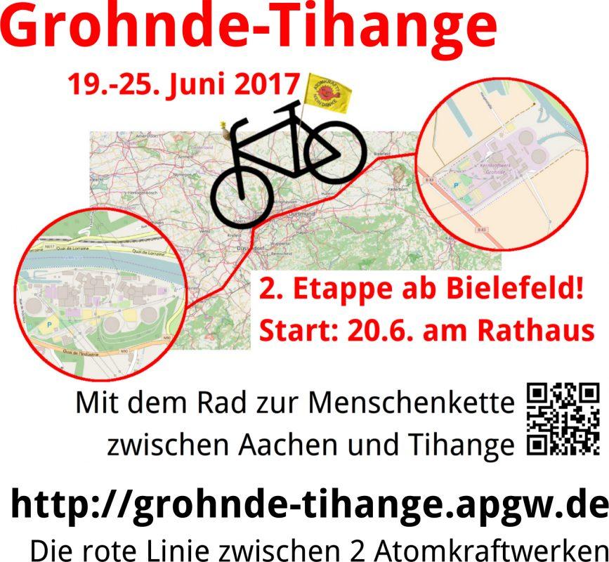 Fahrradtour Grohnde-Tihange: 2. Etappe @ Altes Rathaus Bielefeld | Bielefeld | Nordrhein-Westfalen | Deutschland
