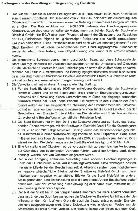 Verwaltungstext zur Petition Seite 1