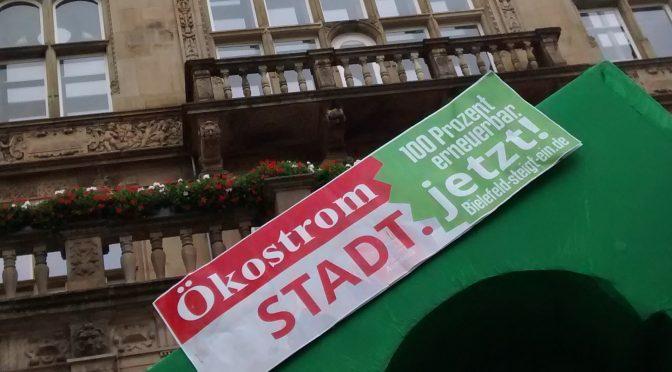 Stadt Bielefeld beschließt Bezug von Ökostrom ab 1.1.2017
