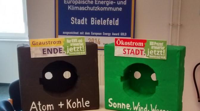 """Stadt Bielefeld beschließt Stadtwerke-Bericht mit Option """"Graustrom.ENDE"""""""